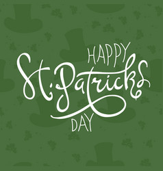 Happy saint patricks day logotype celebration vector