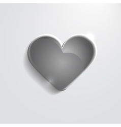 Heart black glass icon vector image