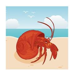 Hermit crab vector