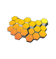 Hexagons technology and communication background vector