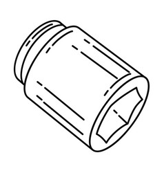 Impact sockets icon doodle hand drawn or outline vector