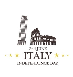 Independence Day Italy vector image