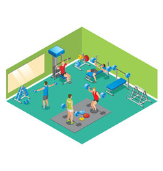 Isometric fitness concept vector