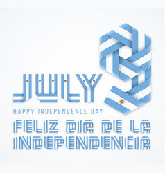 July 9 argentina independence day congratulatory vector
