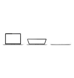 Laptop lid opening stages vector
