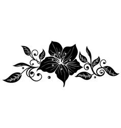 Lily vintage vector