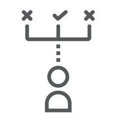 Make decision line icon development and business vector