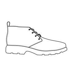 men shoes isolated male man season shoes icons vector image