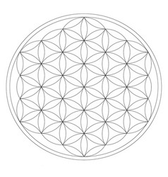 Metatron cube grid for wiccan crystal meditation vector