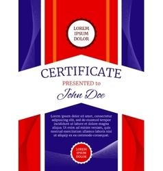 Modern award certificate template vector