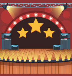 Music stage scenery vector
