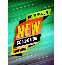new collection promotional concept template vector image