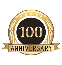 One Hundred Year Anniversary Badge vector image