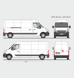 Opel movano cargo delivery van 2015 l3h2 vector