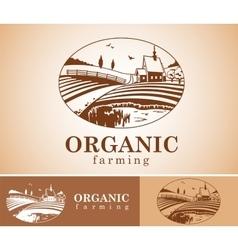 Organic farming design element vector image