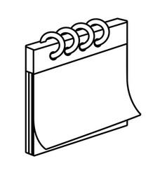 paper notebook cartoon vector image