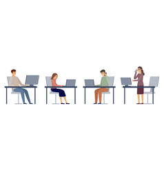 people in office managers work vector image