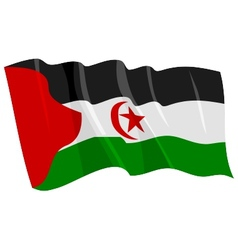 political waving flag of western sahara vector image