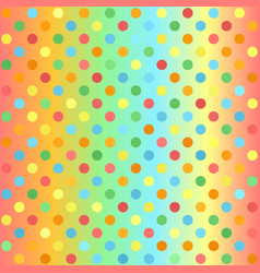 Polka dot pattern gradient multicolor seamless vector