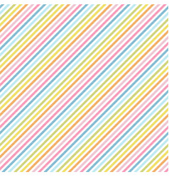 rainbow stripes seamless pattern diagonal texture vector image
