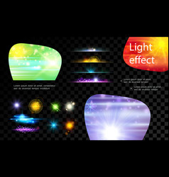 realistic light effects collection vector image