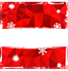 Red triangle grunge christmas background vector