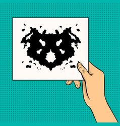 rorschach test pop art vector image