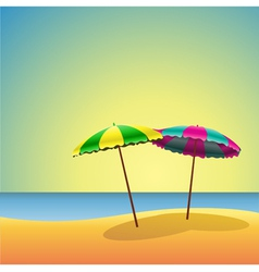sandy beaches vector image