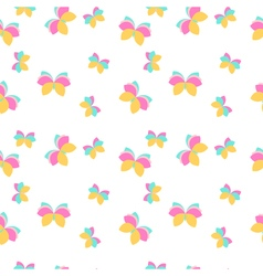 Seamless pattern with pink and orange butterflies vector