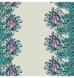 Seamless vertical floral ornam vector image