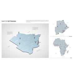 set botswana country isometric 3d map botswana vector image