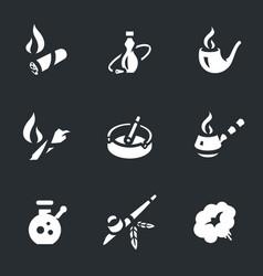 Set smoking icons vector