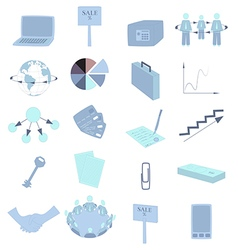 Set with Business Colored Icons vector image