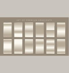 shiny gradients set background design vector image