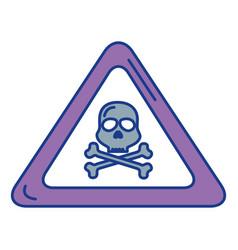 skull alert symbol icon vector image