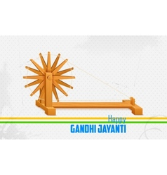 Spinning wheel on India background for Gandhi vector image