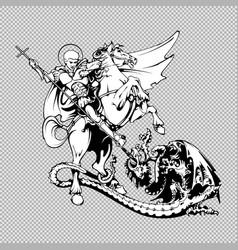 st george on horseback vector image