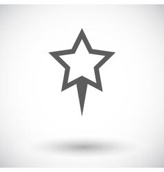 Star pin vector