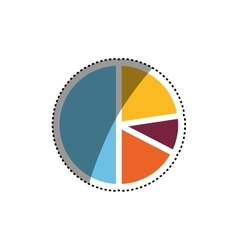 Statistics graphic report vector image