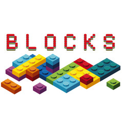 toy blocks in many colors vector image