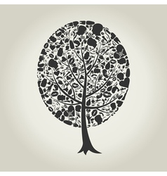 Tree of a part of a body vector image