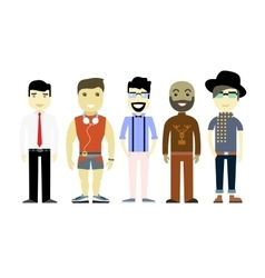 Types men different characters set collection vector