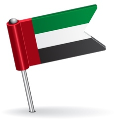 United Arab Emirates pin icon flag vector image