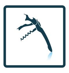 Waiter corkscrew icon vector