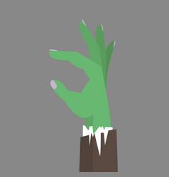 zombie hand business flat vector image