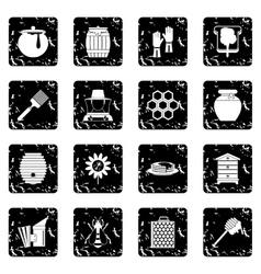 Apiary tools icons set vector