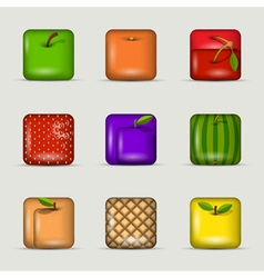 App icons fruits vector image vector image