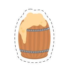 cartoon st patricks day wood barrel beer vector image