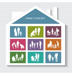 Conceptual Banner for Family vector image vector image