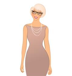 happy woman vector image vector image
